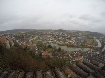View of Harburg below.