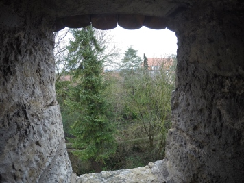 View from a window in the town wall