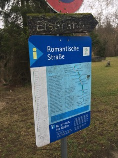 Sign detailing the Romantic Road