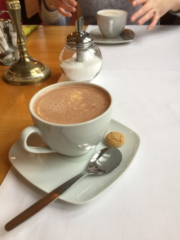 After the wind and rain, a hot chocolate is all you need.