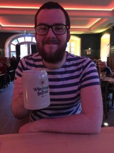 Enjoying a German Beer!